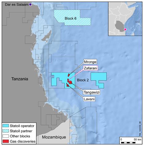 Statoil's Zafarani reservoir in Tanzania Block 2 successfully tested