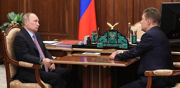 А. Миллер В. Путину: Газпром по итогам 2017 г установит абсолютный рекорд поставок газа на экспорт за всю свою историю - 192 млрд м3