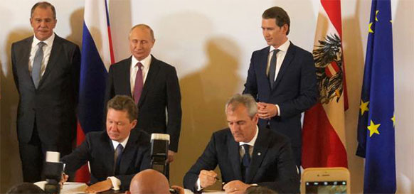 Gazprom and OMV sign extension for natural gas supplies to Austria