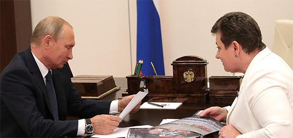 С. Орлова В. Путину: Владимирская область снизила долг за газ на 600 млн руб