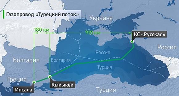 Турция определила точку выхода газопровода Турецкий поток - поселок Кыйыкёй во Фракии