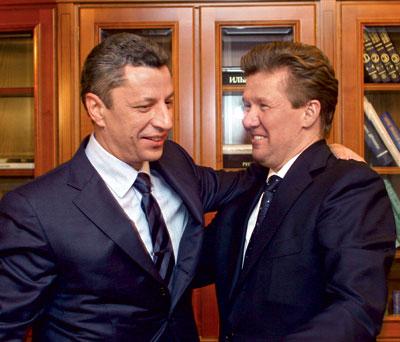 6 февраля 2013 г  А.Миллер и Ю.Бойко искали в офисе Газпрома взаимный интерес