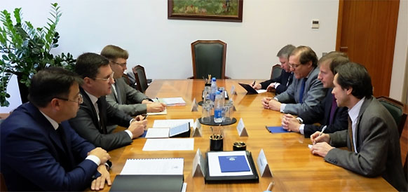 А. Новак и А. ле Фолль обсудили проекты Total в России. Поговорили о Ямал СПГ и Харьягинском месторождении