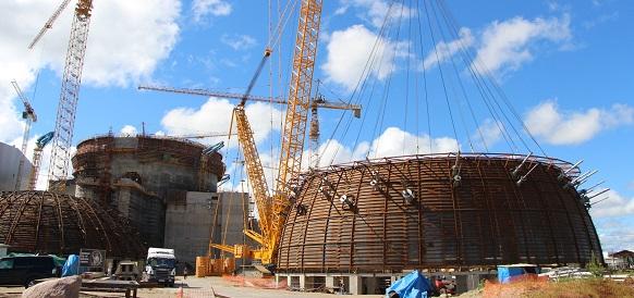 На Ленинградской АЭС на штатное место установлен нижний ярус гермооболочки здания реактора энергоблока №2
