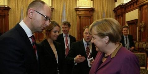 А.Яценюк просит А.Меркель помочь найти инвесторов для ГТС Украины