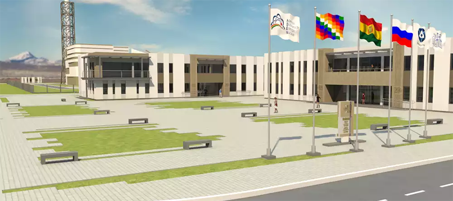 Russian ambassador visited the construction site of the Center for Nuclear Technology Research & Development in Bolivia