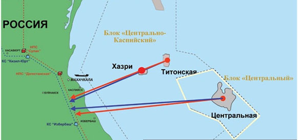 На месторождении Хазри в Каспийском море ЛУКОЙЛ обнаружил новый перспективный объект