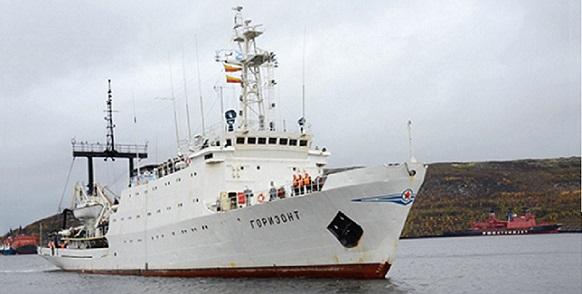 Гидрографическое судно Северного флота Горизонт завершило очередную 46-суточную арктическую экспедицию