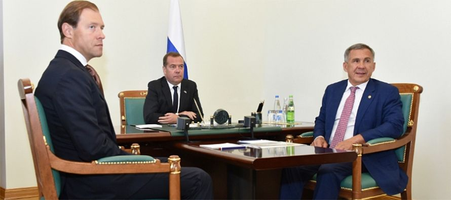 D.Medvedev commissioned the 2nd primary oil refining installation at TANECO