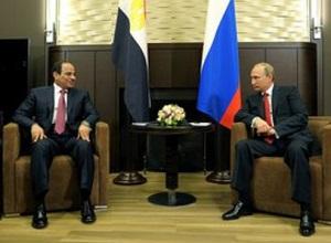 Переговоры В.Путина и президента Египта А.Сиси в г Сочи 12 августа 2014 г