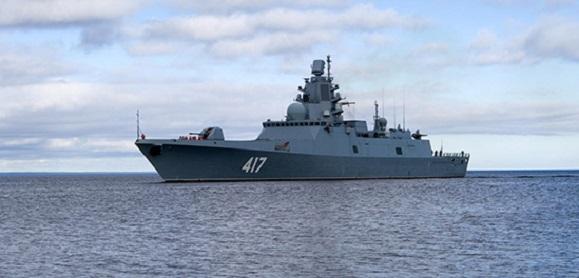На Северном флоте началась завершающая фаза испытаний фрегата «Адмирал Горшков»