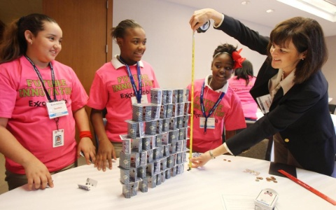 ExxonMobil Engineers Encourage Girls to Envision Careers in Science and Math