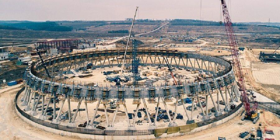На Курской АЭС-2 начали бетонирование оболочки самой высокой градирни в России