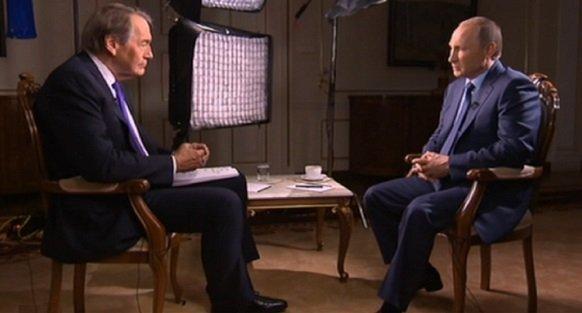 В.Путин перед выступлением на Генассамблеее ООН тепло поговорил о Сирии с американским журналистом Ч.Роузом, который был модератором на ПМЭФ-2015 г