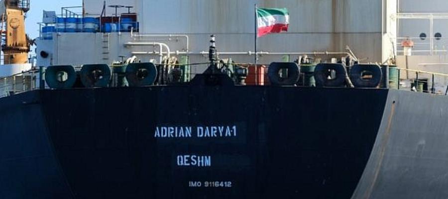 Иранский танкер Grace 1 переименовался в Adrian Darya 1 и благополучно покинул Гибралтар