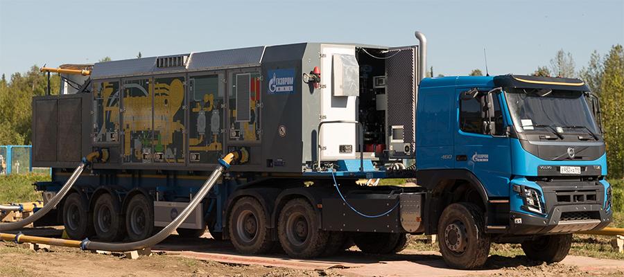Газпром трансгаз Ухта расширяет применение мобильных компрессорных станций при ремонтах газопроводов
