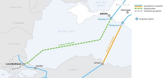 Construction of TurkStream gas pipeline's offshore section commenced