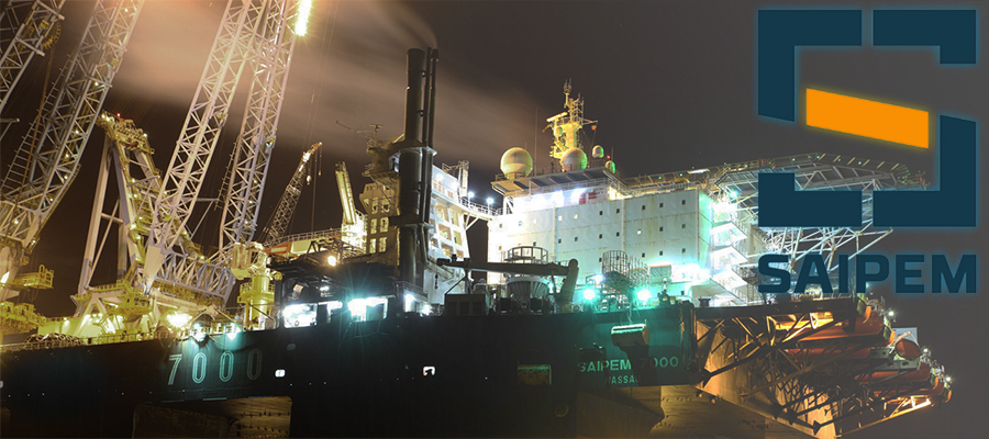 Saipem vessel working to tie together 2 ends of Nord Stream 2 pipe