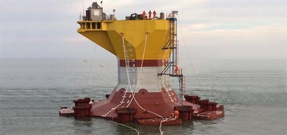LUKOIL starts installation of wellhead  platform substructure at the V.Filanovsky field