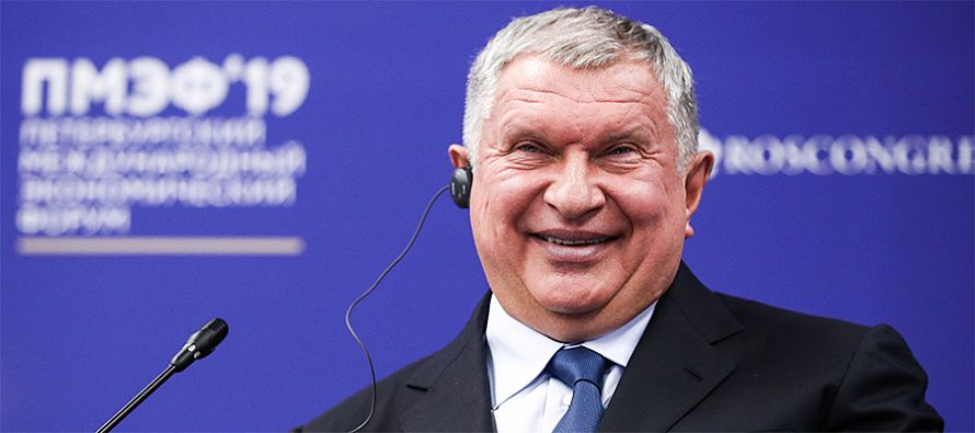 Igor Sechin makes a business trip to the PCK refinery in Germany