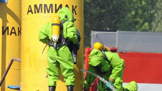 На нефтебазе в г Ангарске произошёл выброс аммиака