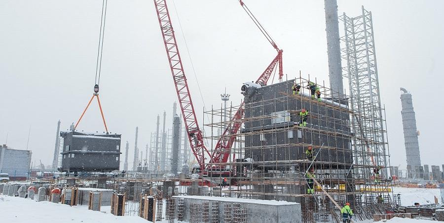 На новом этиленовом комплексе Нижнекамскнефтехима приступили к установке паровых котлов