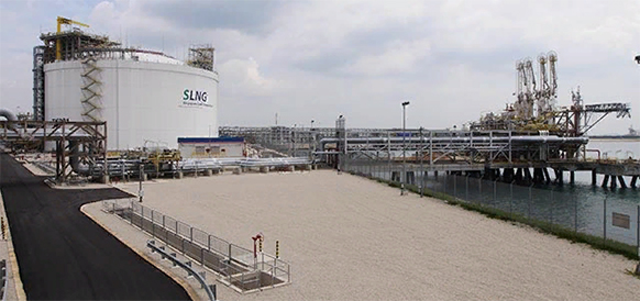SLNG Terminal on Jurong Island now SSLNG-Ready to recive small LNG ships
