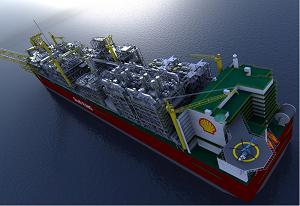 Shell приняла окончательное решение по строительству 1-й в мире плавающей буровой по добыче СПГ.