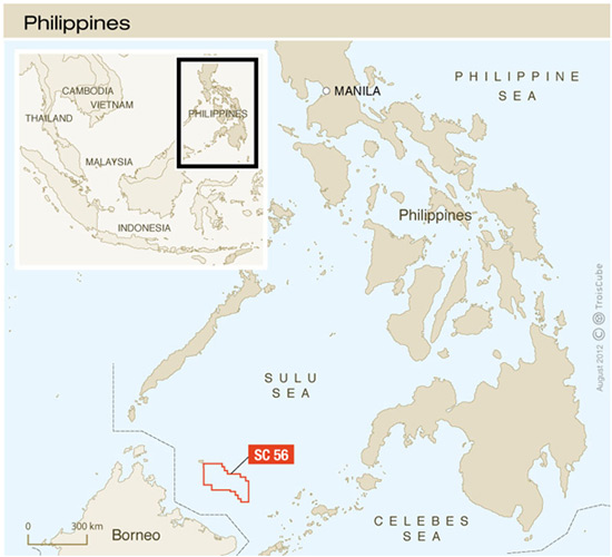 Philippines: Total acquires a 75% interest in offshore Block SC56