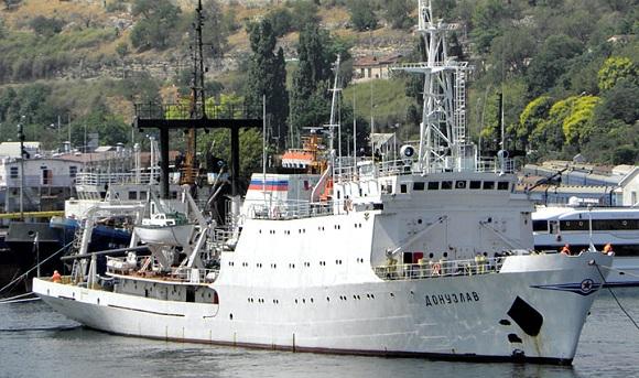 Гидрографическое судно Черноморского флота «Донузлав» вошло в состав группировки ВМФ в Средиземном море