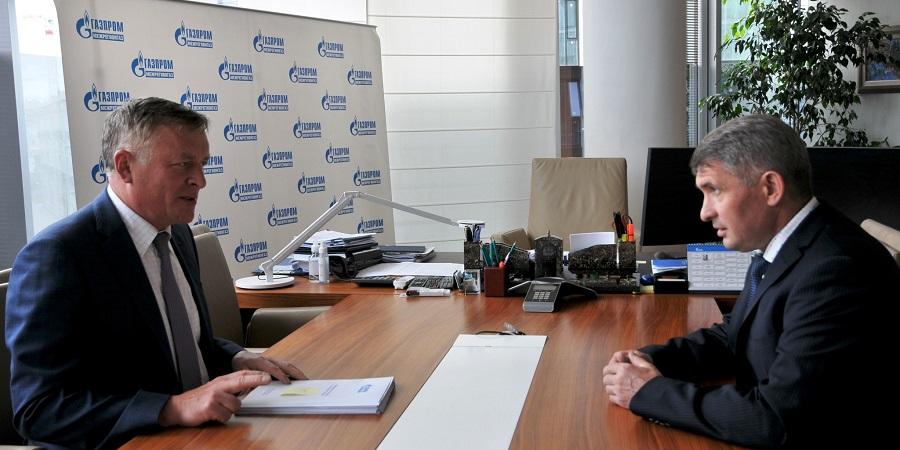 Гендиректор Газпром межрегионгаза и врио главы Чувашии обсудили газификацию региона