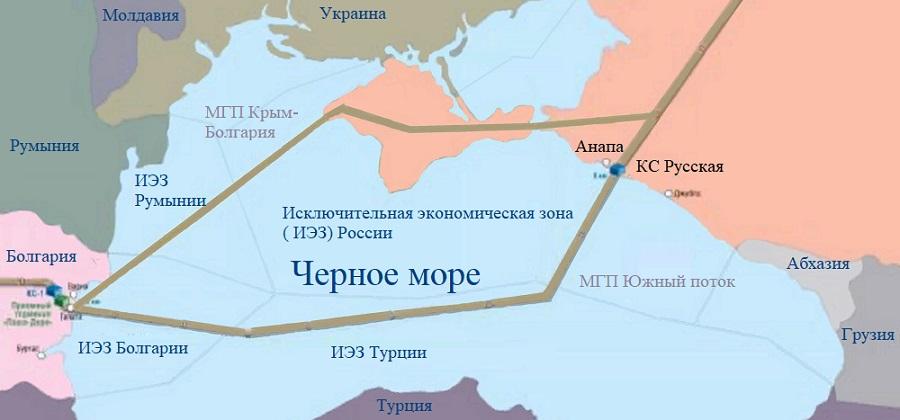 Крым- Болгария. Минэнерго РФ допускает возможность строительства нового газопровода в Европу