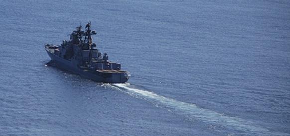 Большие противолодочные корабли Тихоокеанского флота провели учение в Японском море
