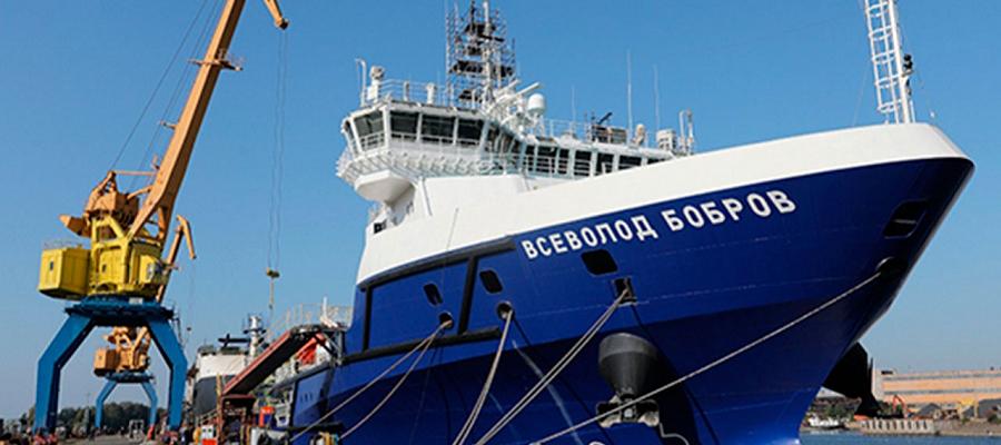 Судно «Всеволод Бобров» ВМФ РФ отработало буксировку равного по водоизмещению судна в рамках заводских испытаний