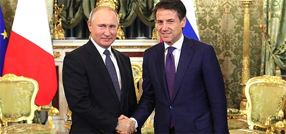 Италия как стратегический партнер по газу и не только. В. Путин провел переговоры с премьер-министром Италии Дж. Конте