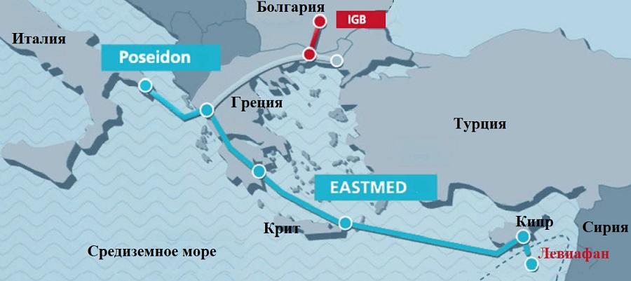 Греция, Кипр и Израиль подписали соглашение о реализации газопровода EastMed. Задержка 1 год
