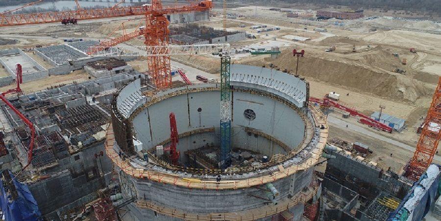 В здании реактора энергоблока № 1 Курской АЭС-2 начат монтаж купольной части внутренней защитной оболочки