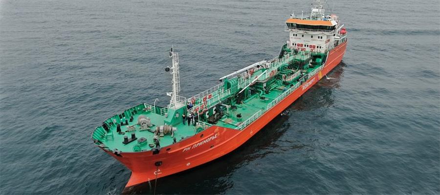 Танкер РН Приморье совершил первый рейс по доставке нефтепродуктов на о. Сахалин