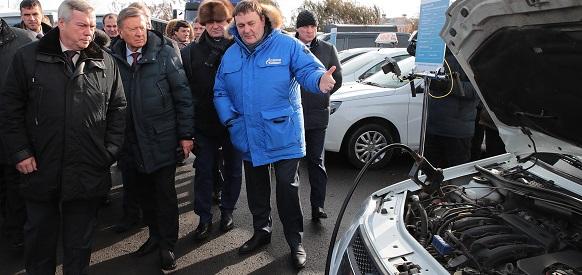В. Голубев. В Ростовской области создана основа для развития рынка газомоторного топлива