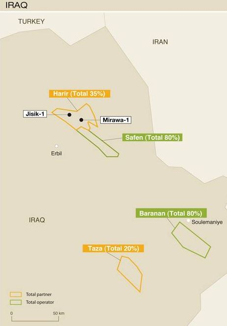 Total Announces the Jisik Discovery in the Kurdistan Region of Iraq