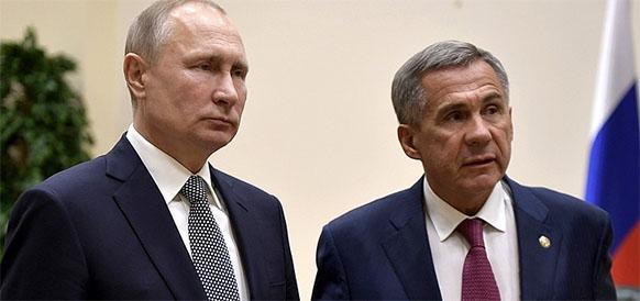В. Путин дал старт работе установок гидроочистки нафты и изомеризации на ТАНЕКО