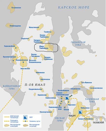 Перспективы Южно-Тамбейского месторождения