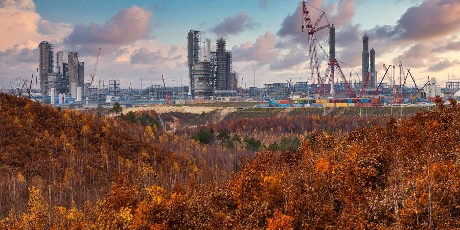Amur GPP construction project is 67.1 % complete