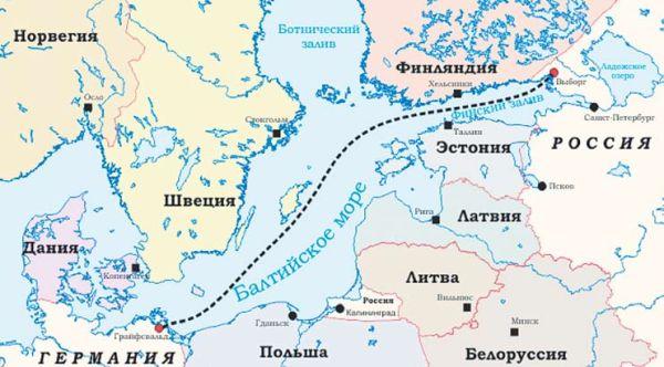 Маршрут газопровода Северный поток-2 будет совпадать с Северным потоком на 86%