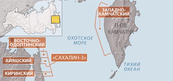 Газпром попросил Роснедра приостановить лицензию на Западно-Камчастком участке недр  в Охотском море