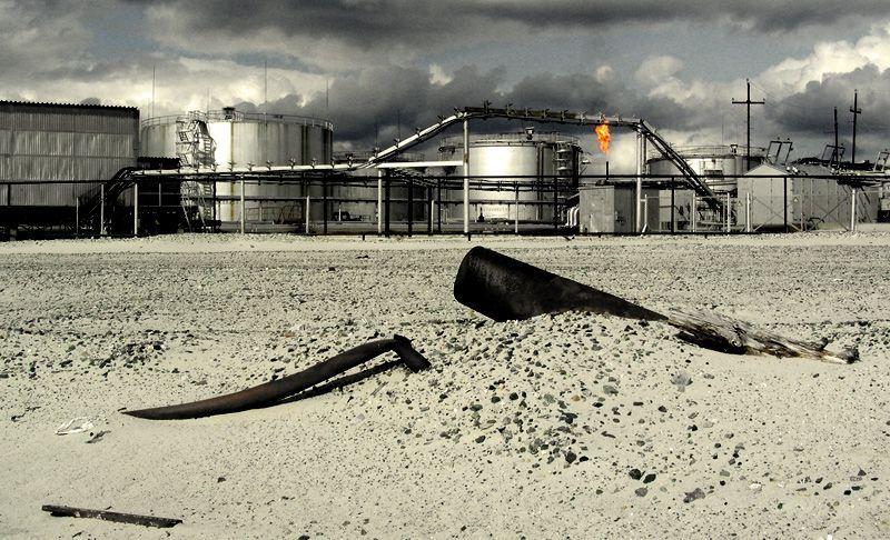 Техногенные пустыни. Противоэрозионная устойчивость почвы, загрязняемой газовым конденсатом