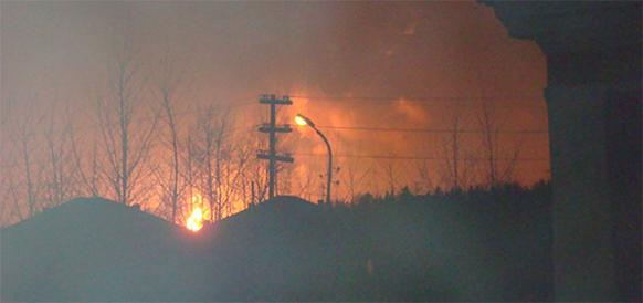 В Рязанской области произошел взрыв газопровода с последующим возгоранием