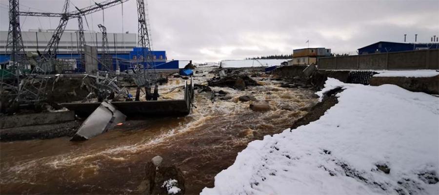 Запуск Белопорожской ГЭС-2 в республике Карелия откладывается из-за прорыва дамбы
