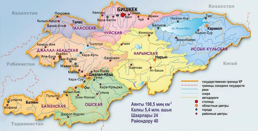Нефть, газ, уголь и энергетика Киргизии