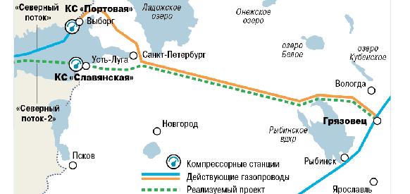 Стройгазмонтаж построит более 300 км подводов для Северного потока-2